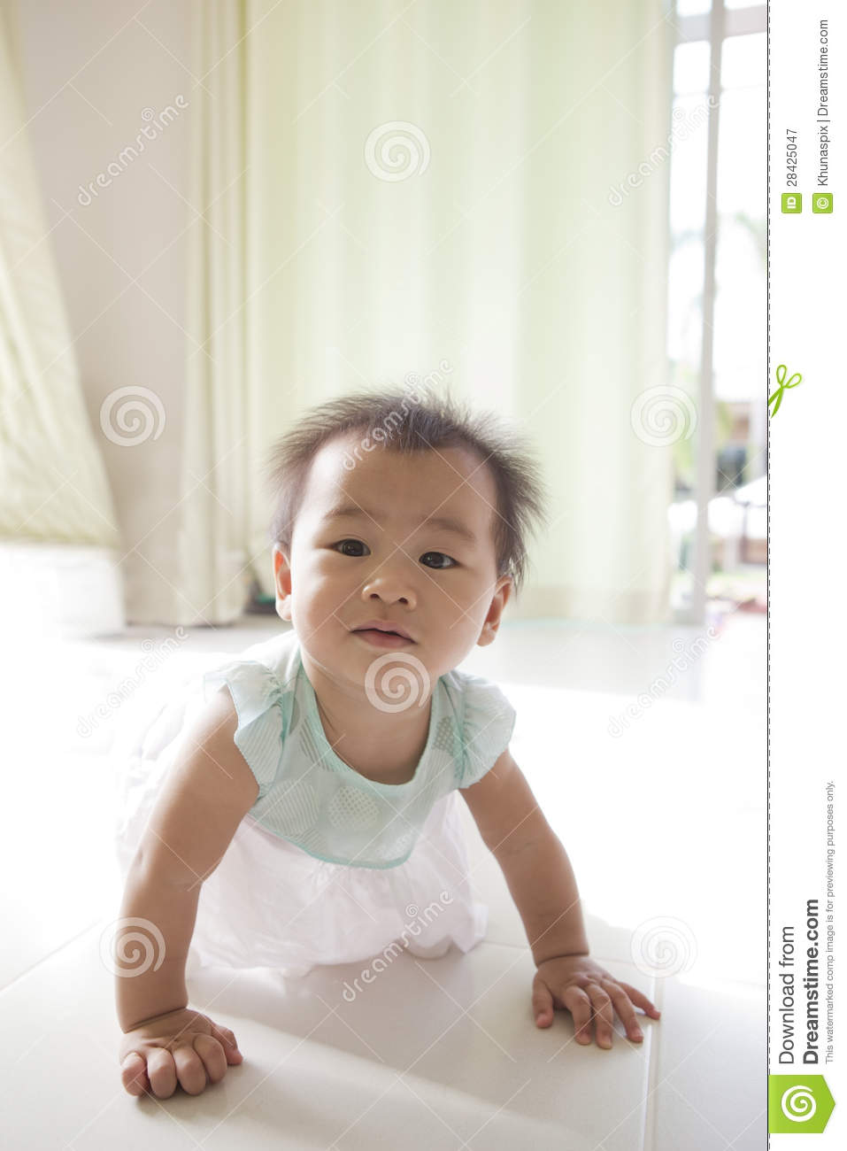 amusing nice living room stock photography image 18909472   Crawling Of 10 Month Baby With Funny Face In Home Living ...