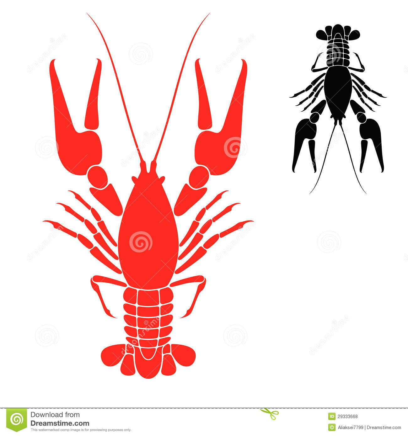 Crayfish Logo. Vector illustration (EPS 10) + alternate file (CDR 10).