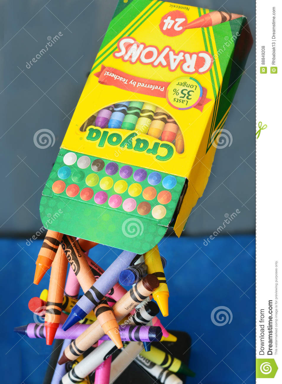 Crayola Crayons editorial stock photo. Image of coloring - 88849208
