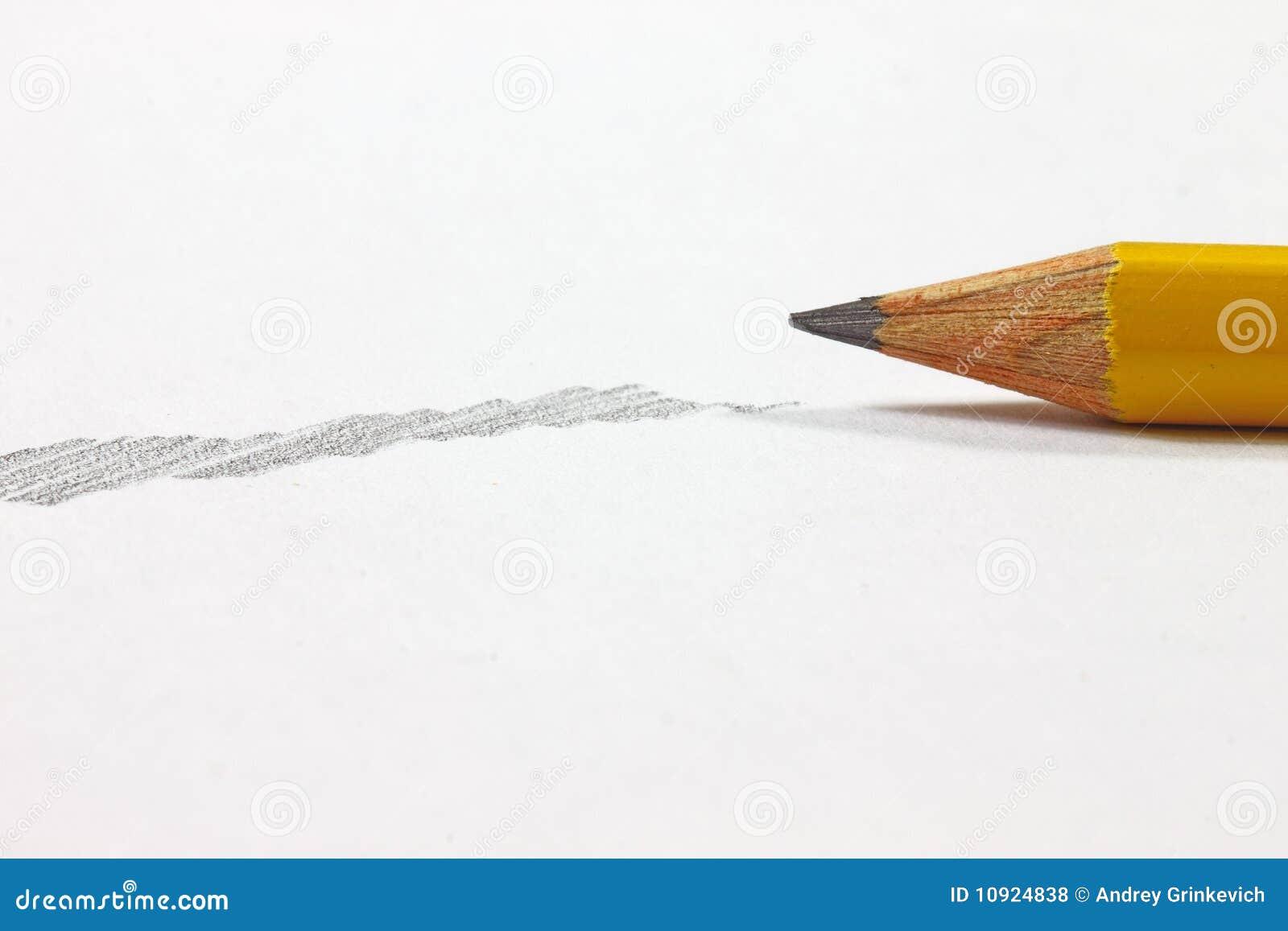 Crayon avec l ombrage