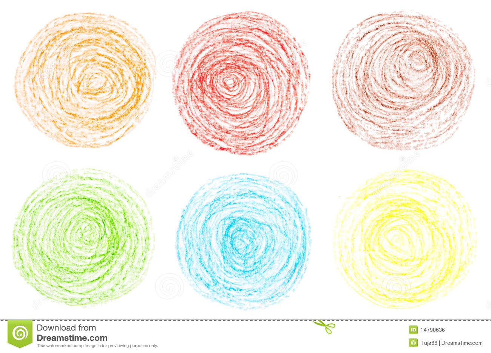 Crayon Colored Circle : Crayon circles royalty free stock image