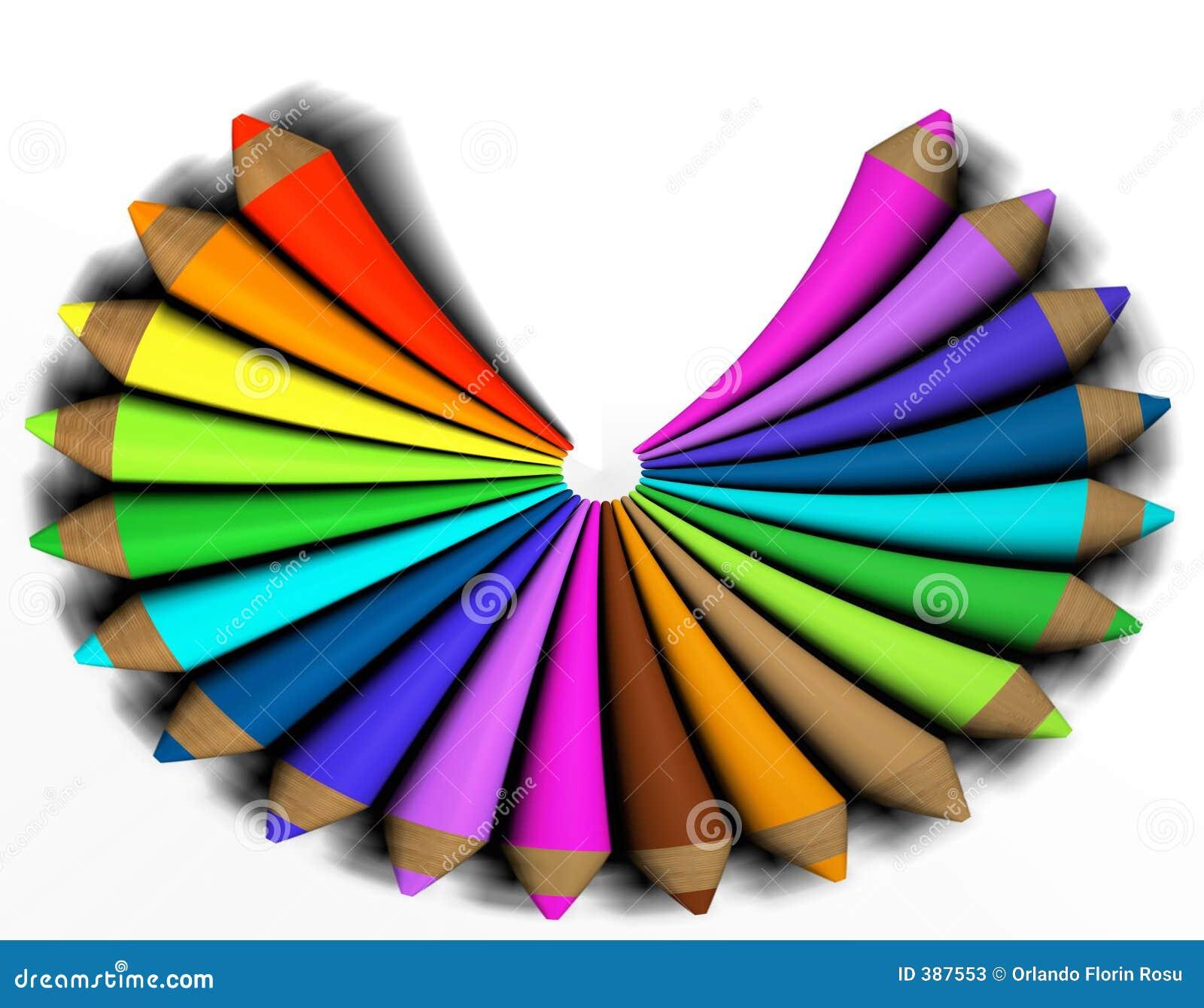 Crayon coloré par abstrait