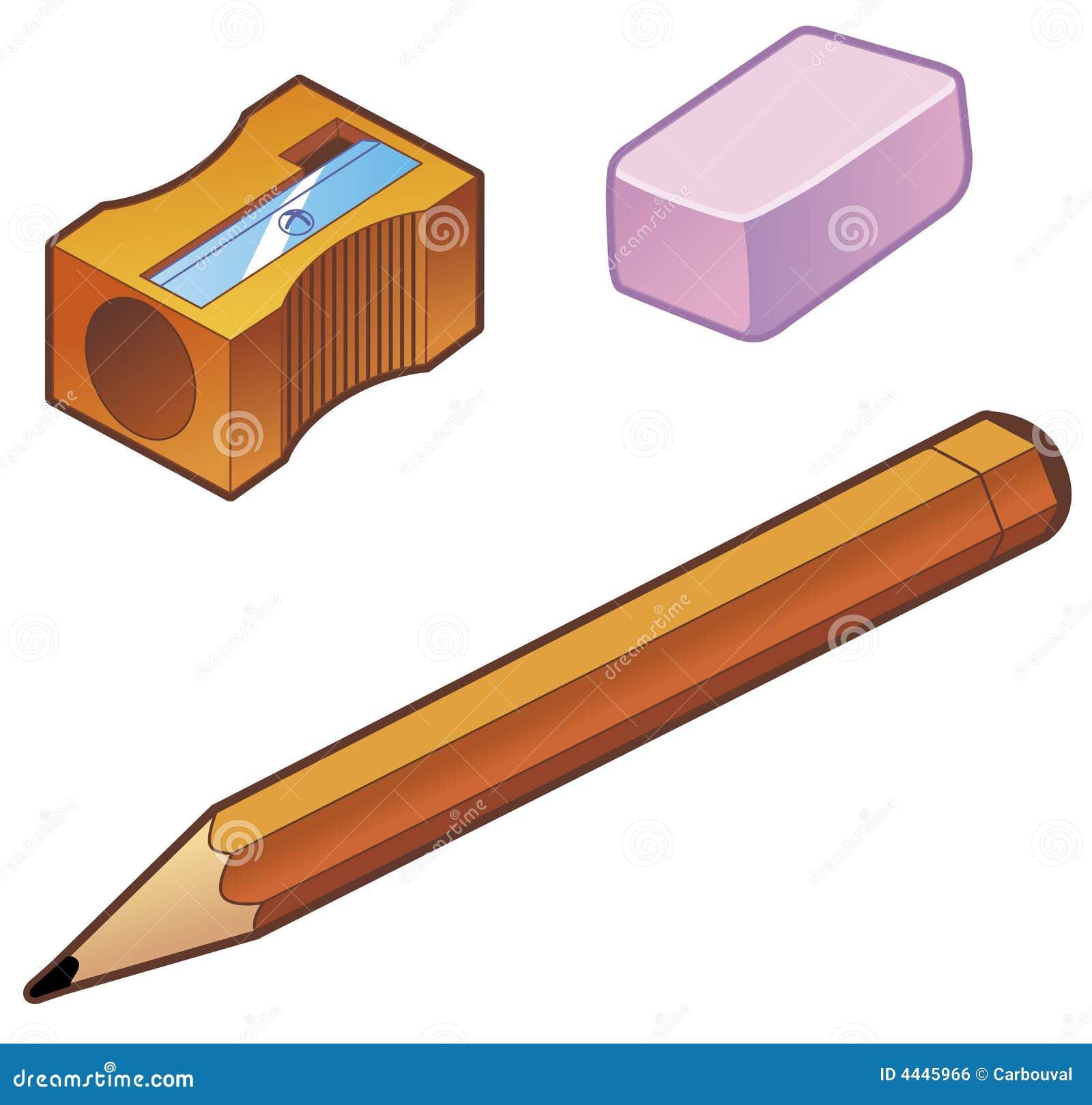Crayon de gomme à effacer d affûteuse