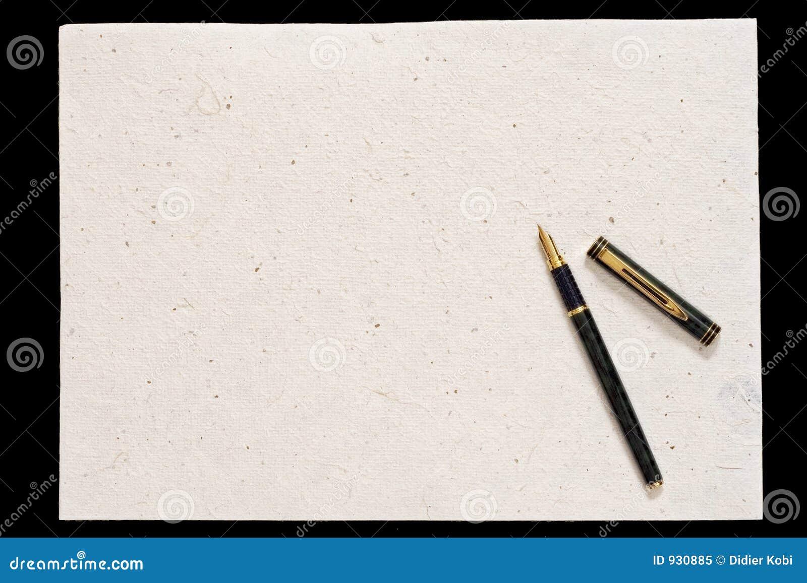 Crayon lecteur et vieux papier