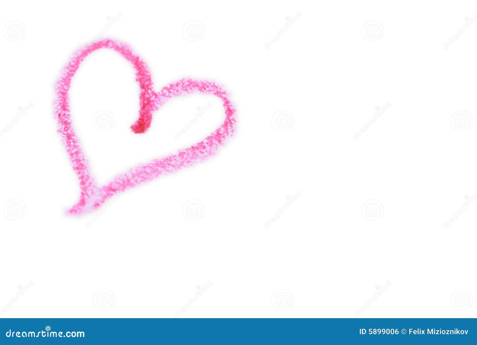 Crayon Pink Heart Royalty Free Stock Image - Image: 5899006