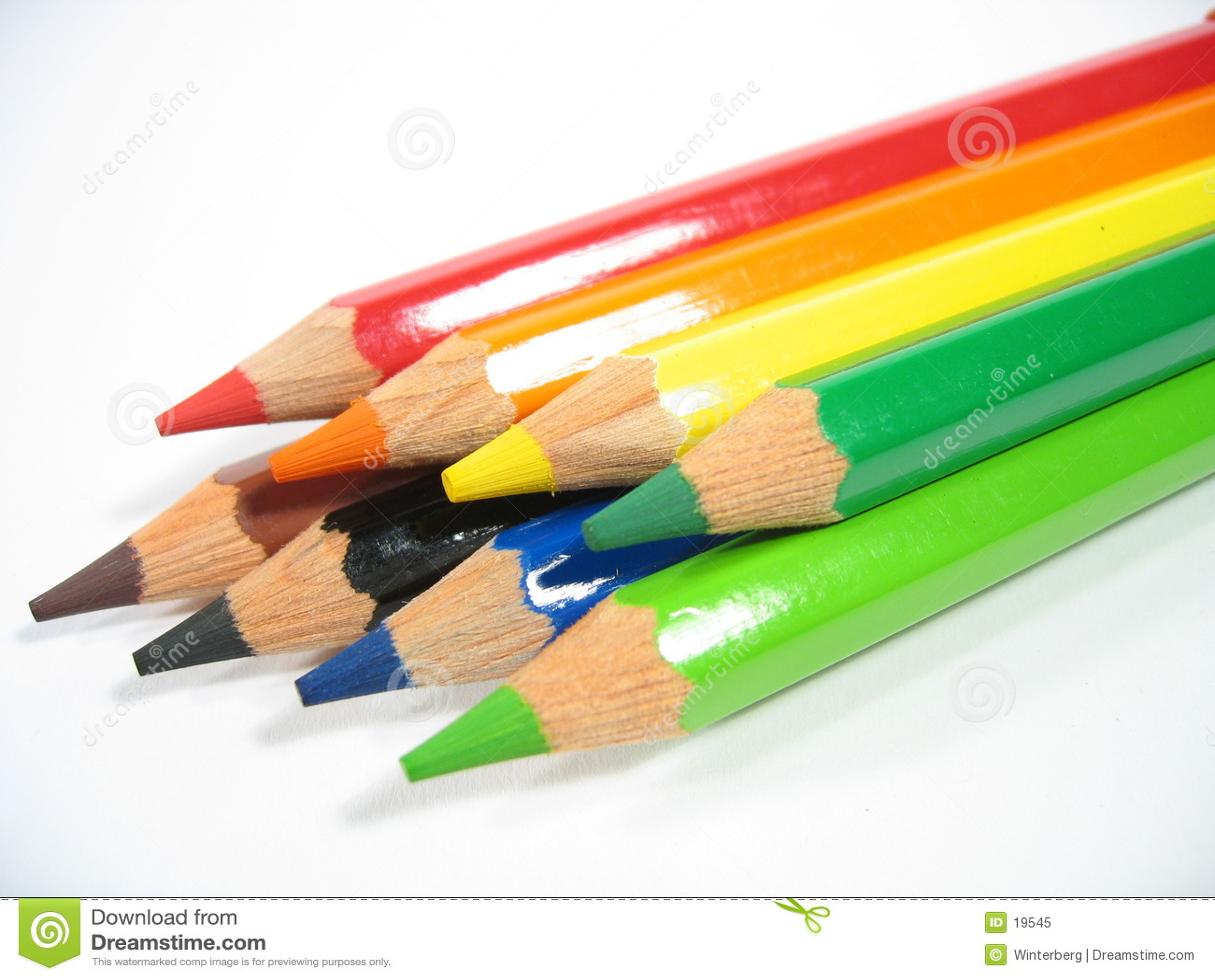 Crayon som jag staplar