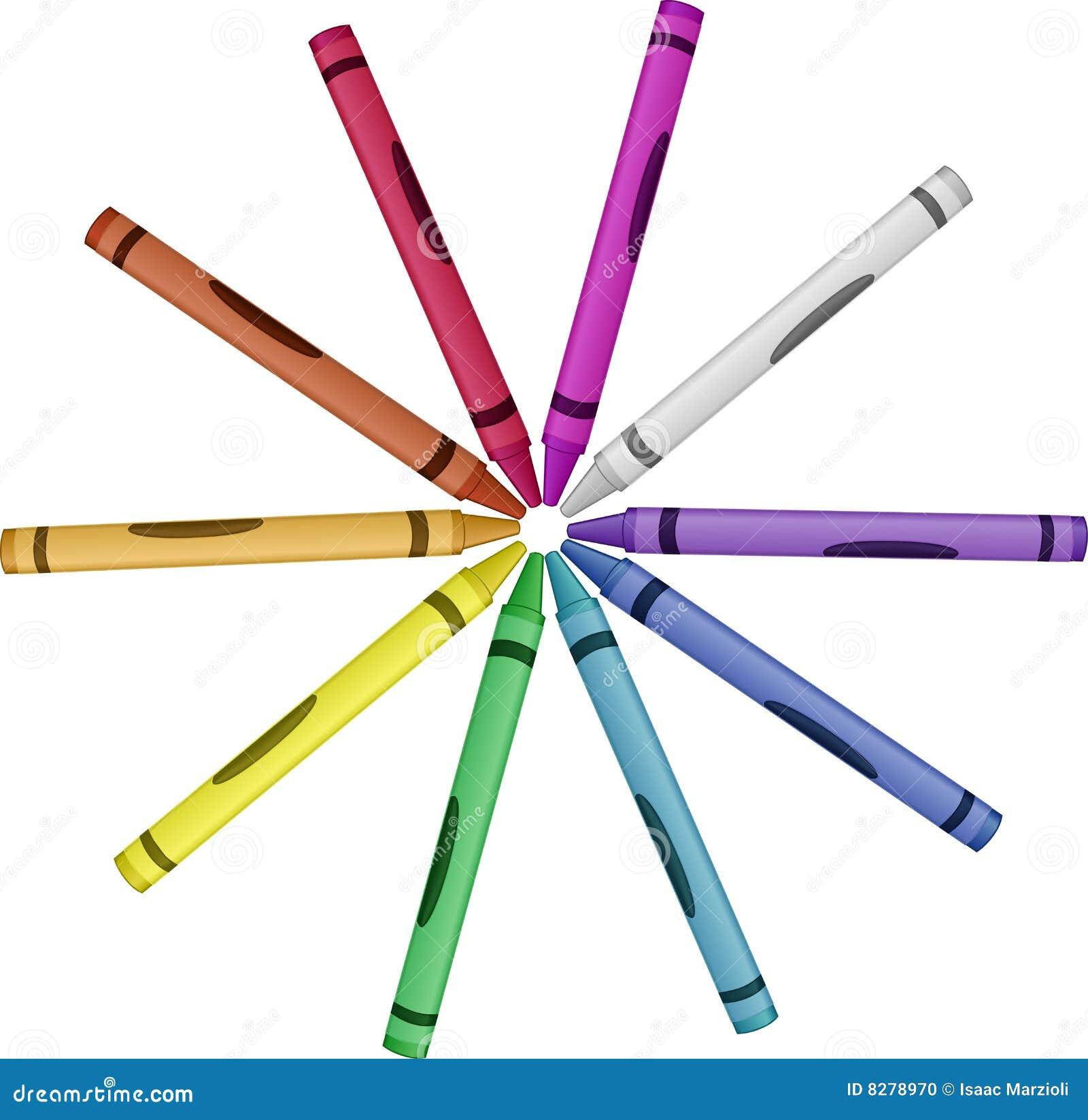 crayon wheel of color vector illustration stock vector