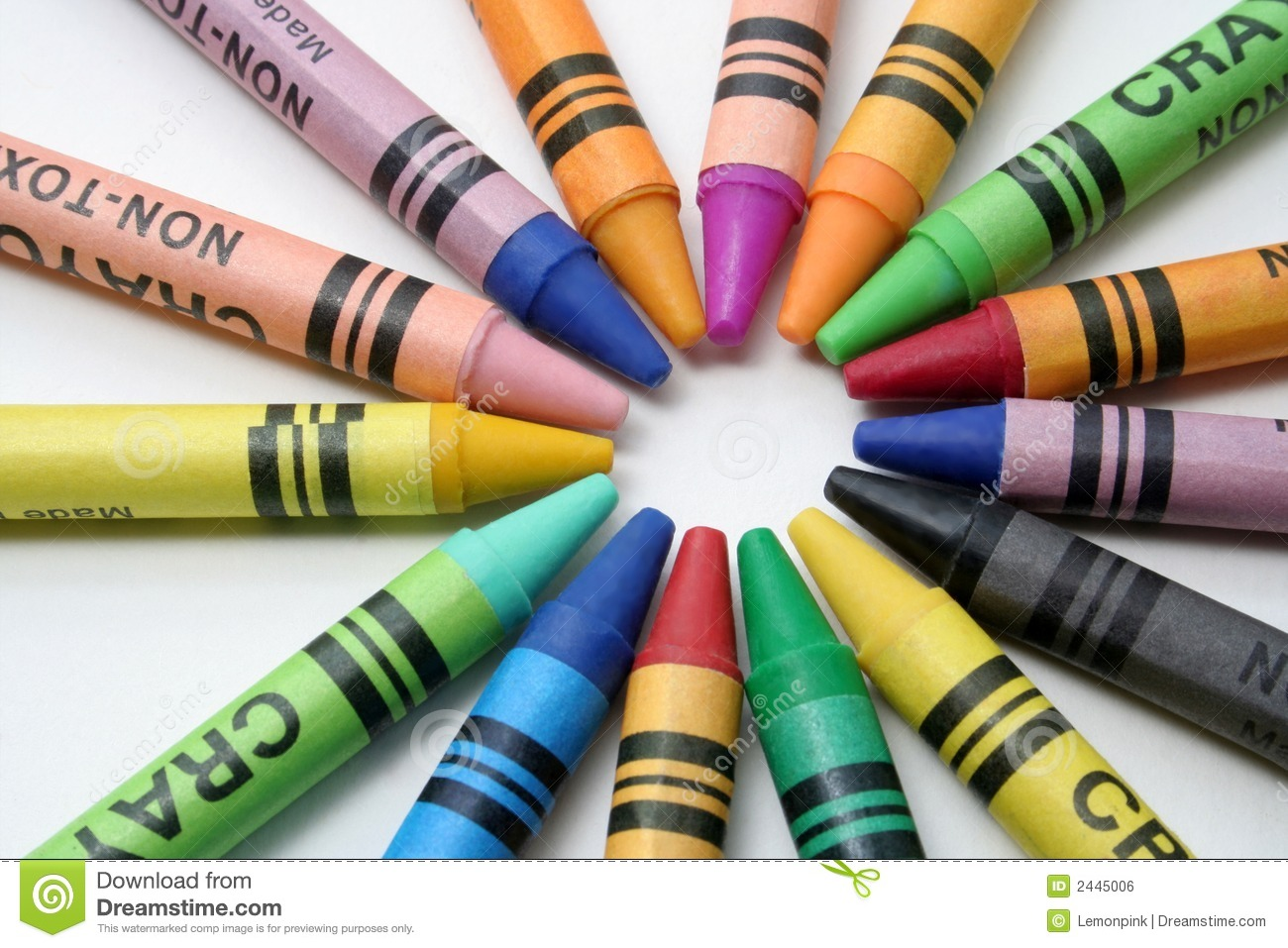 Crayon Colored Circle : Crayons stock photo image of assortment colored