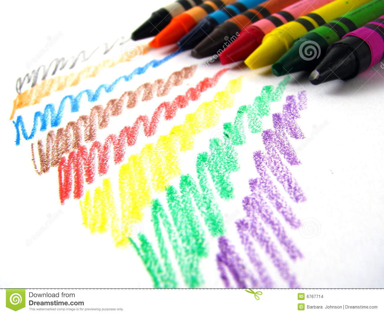 Crayon Scribble Drawing : Crayons stock photo image of draw coloring creative