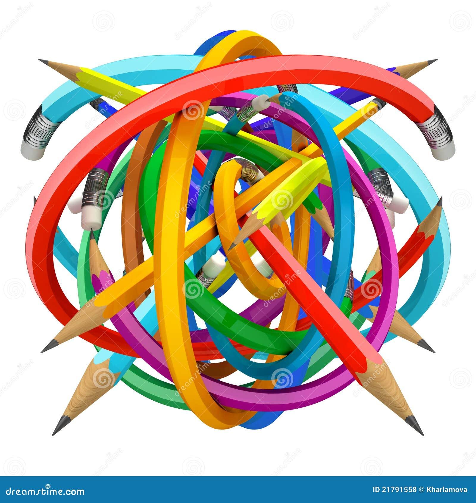 Crayons ball