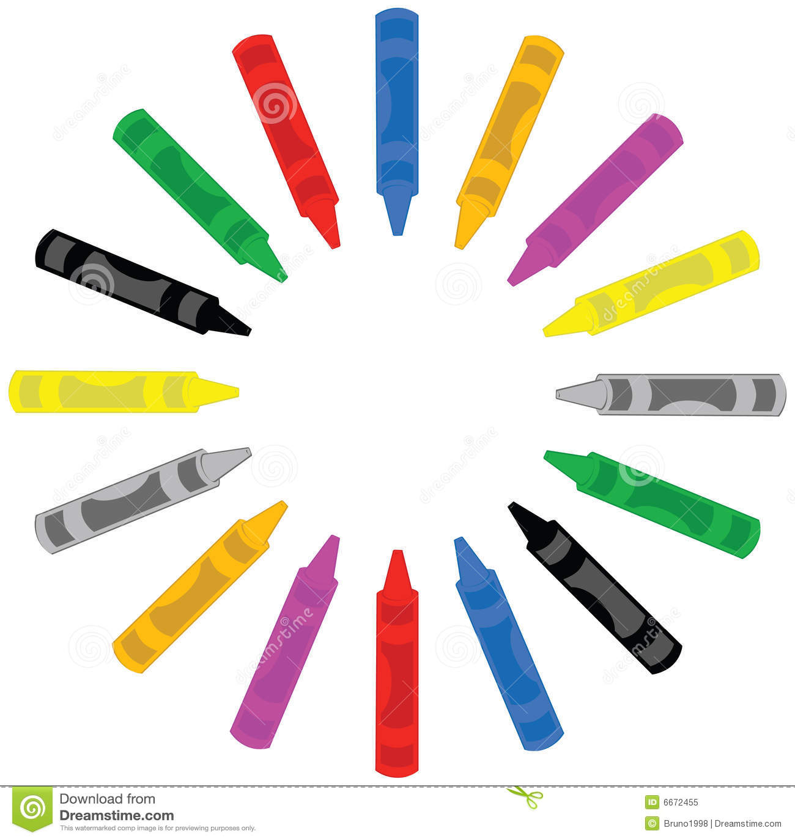 Crayon Colored Circle : Crayons in a circle royalty free stock photo image