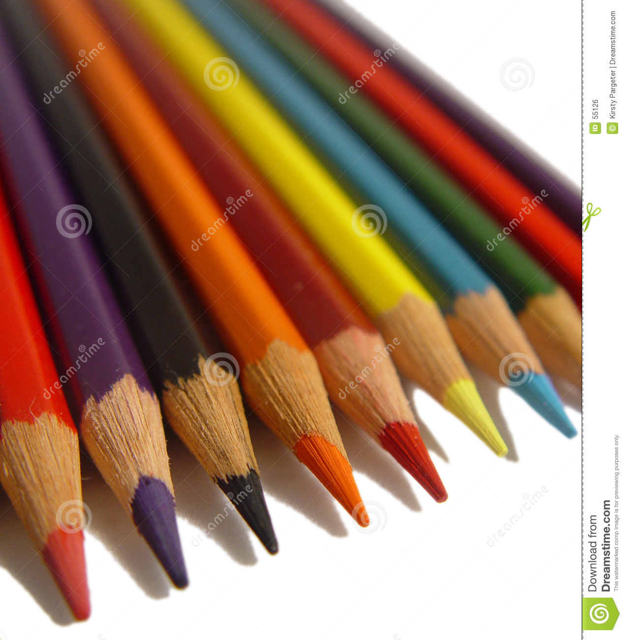 Download Crayons colorés photo stock. Image du attraction, point - 55126