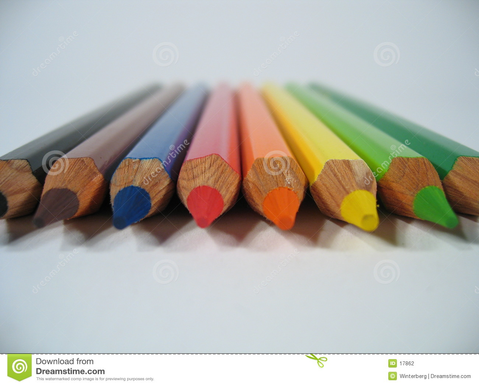 Crayons colorés I