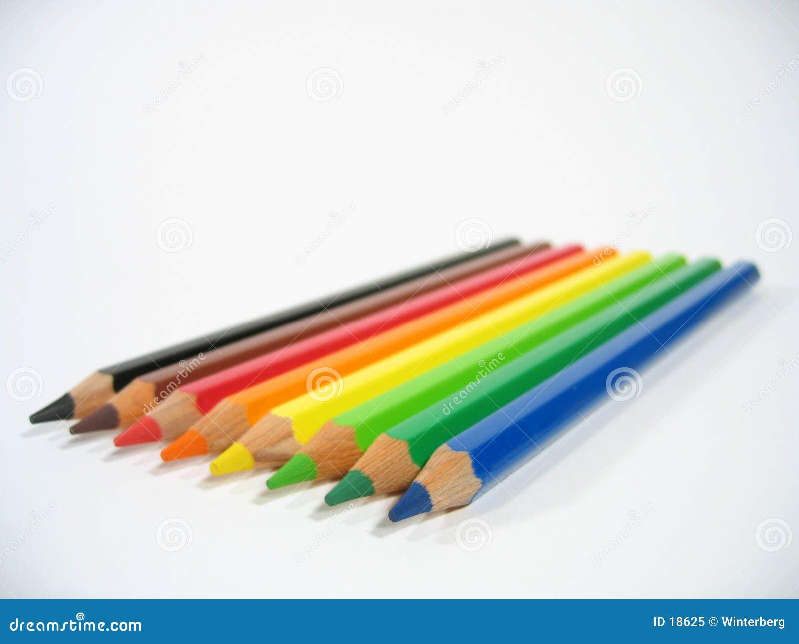 Crayons colorés III