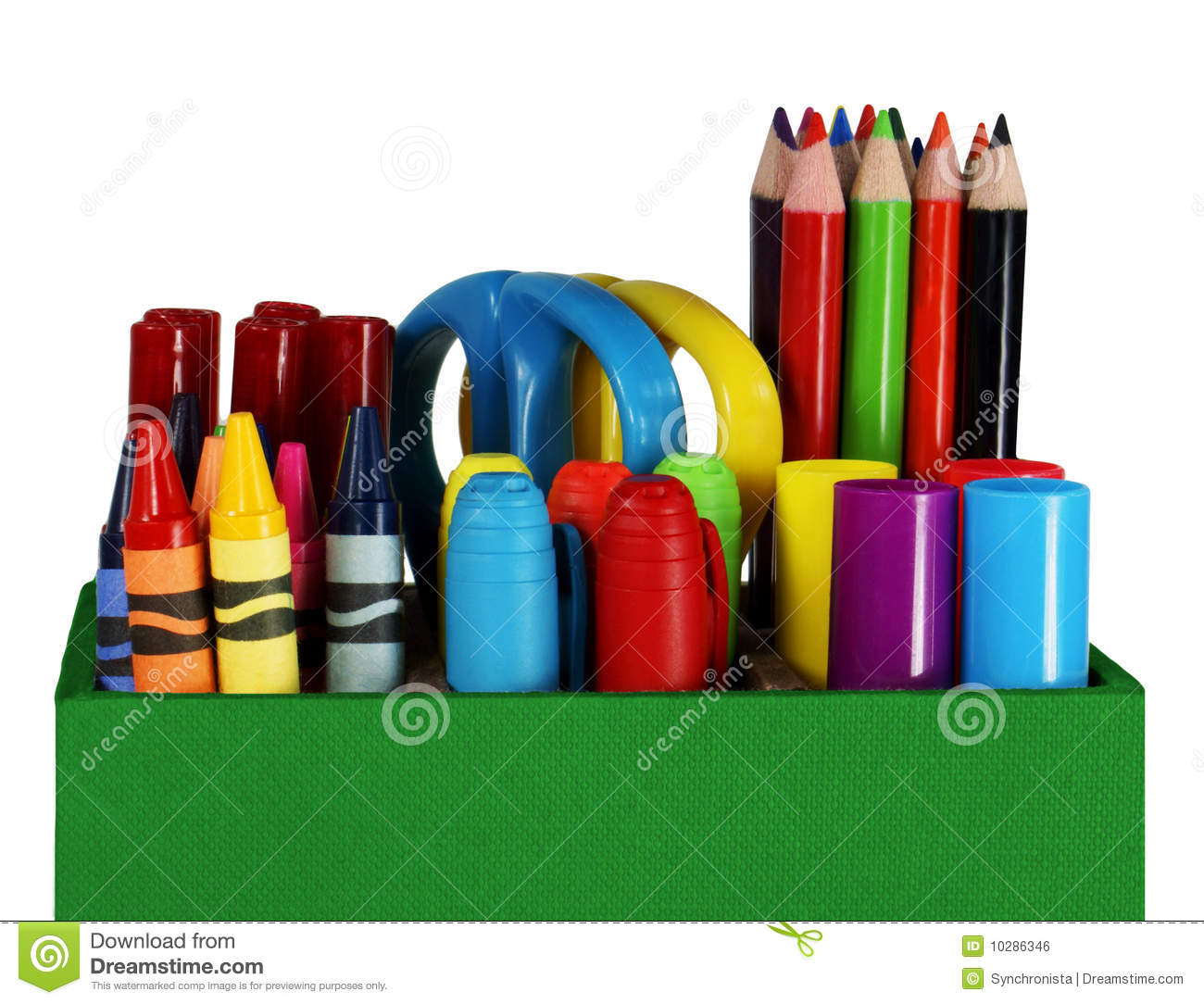 Crayons Colored Pencils And Pens Stock Photo Image Of