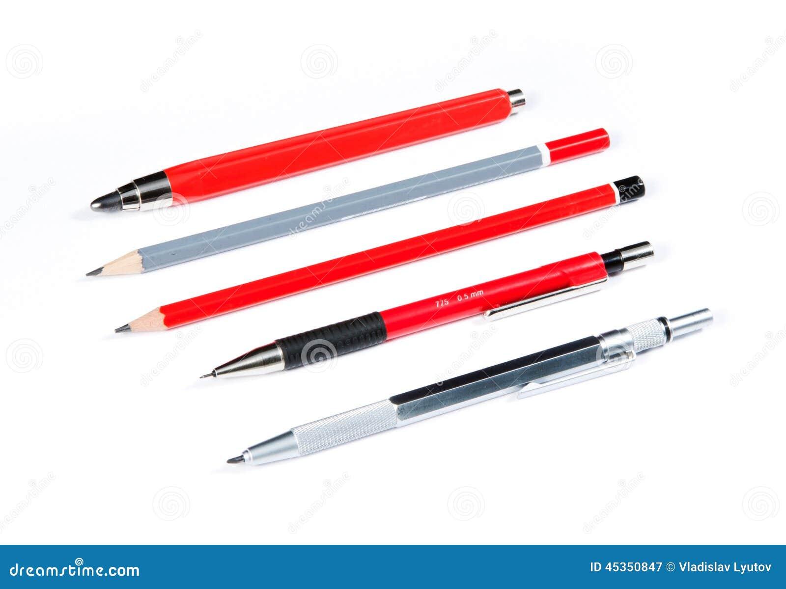 Crayons d isolement sur le blanc