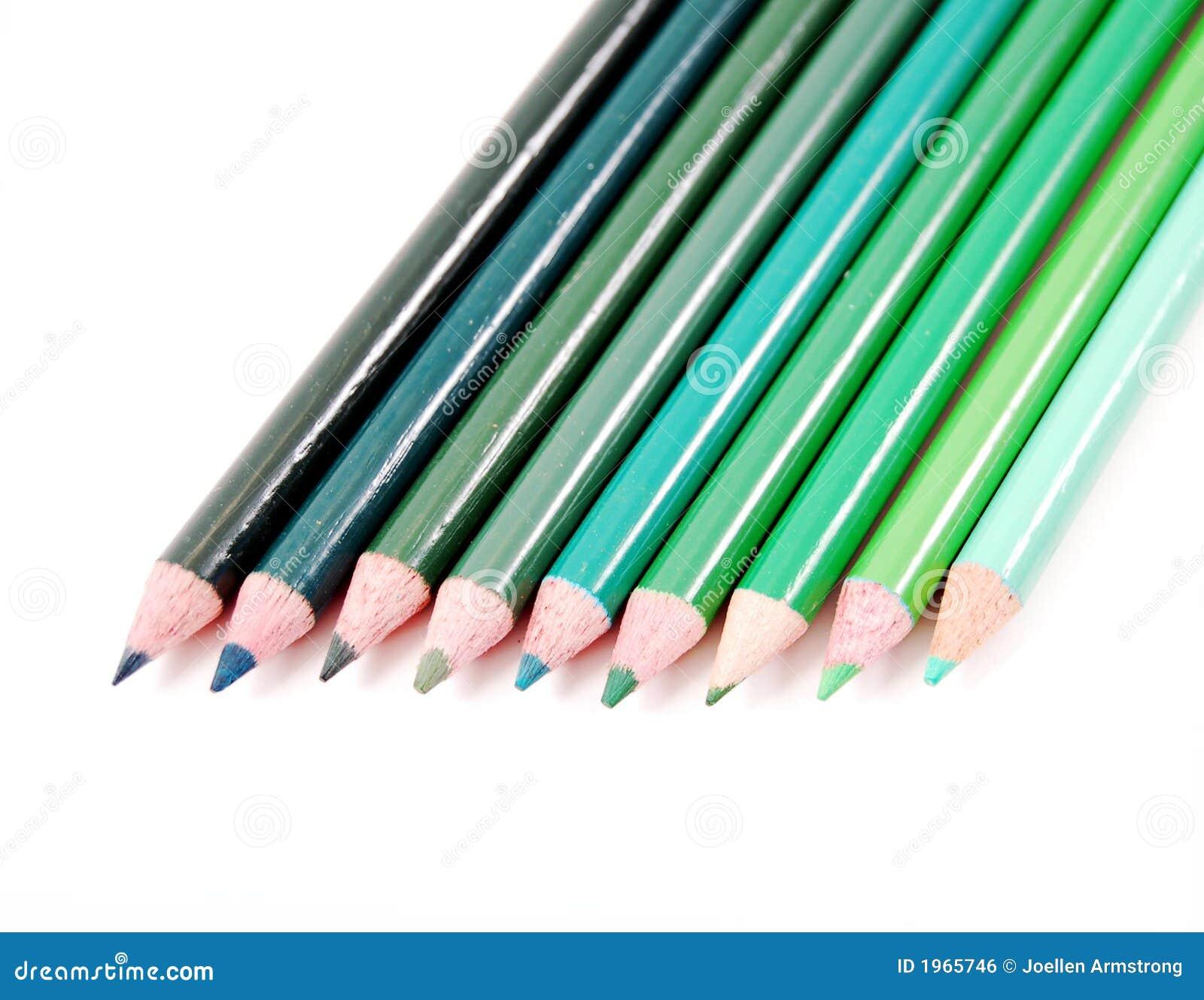 crayons de couleur verte image libre de droits image 1965746. Black Bedroom Furniture Sets. Home Design Ideas