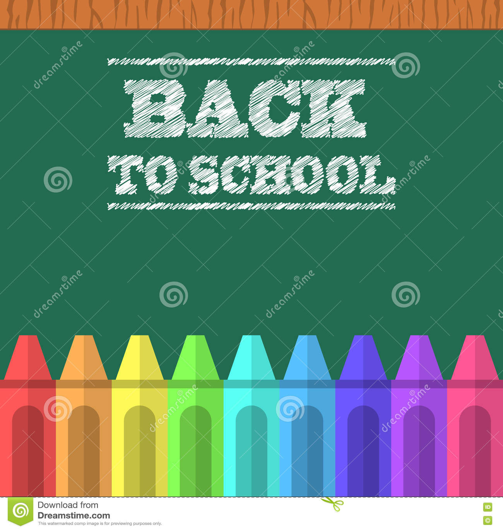 Crayons et conseil pédagogique vert