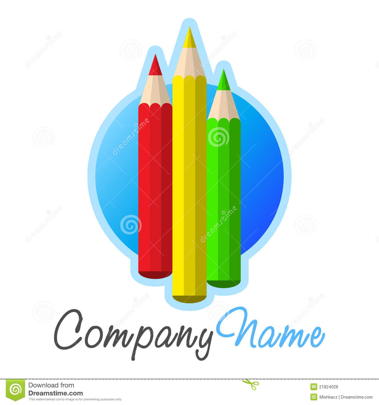 crayons icon and logo design royalty free stock photos
