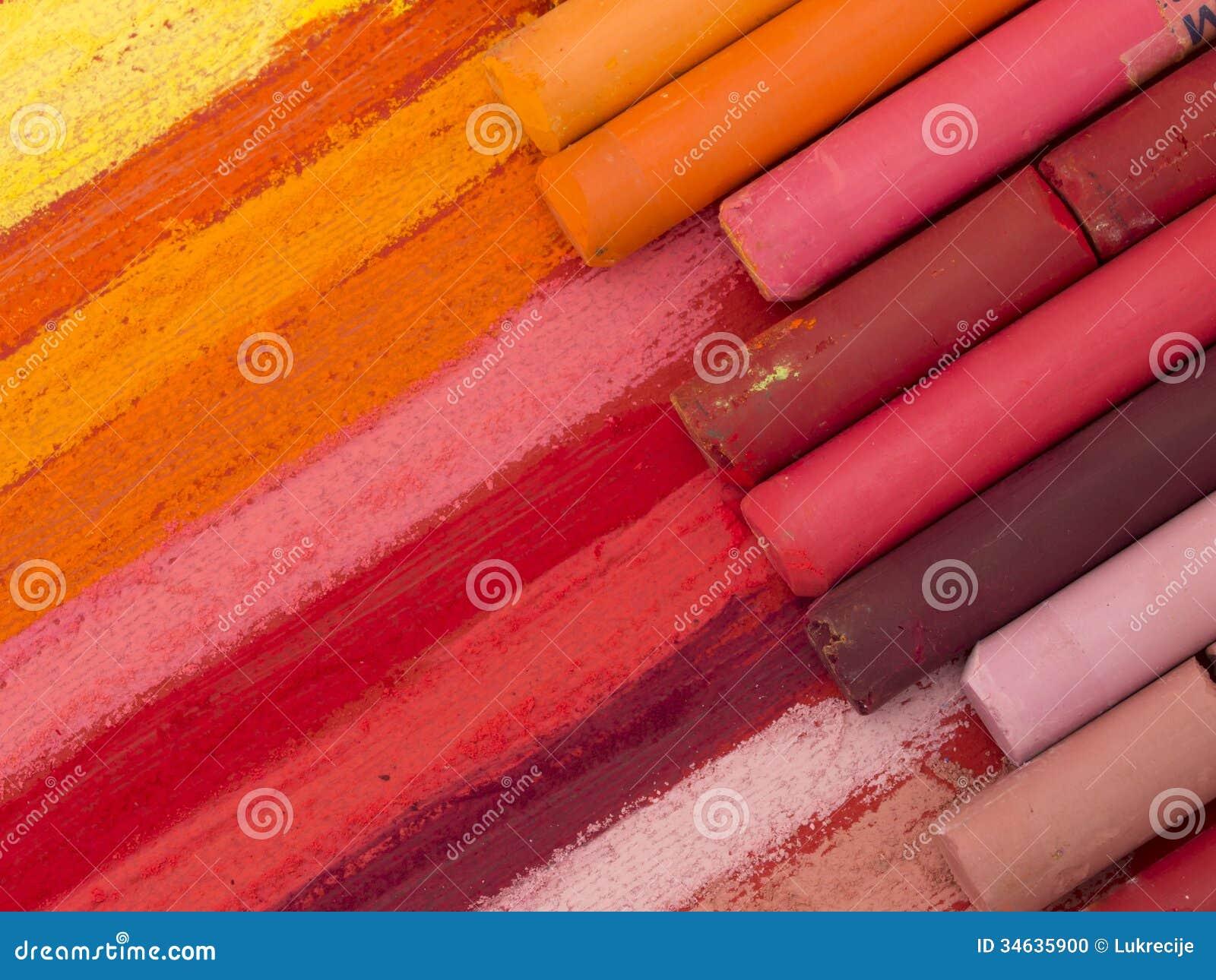 Crayouns artísticos coloridos