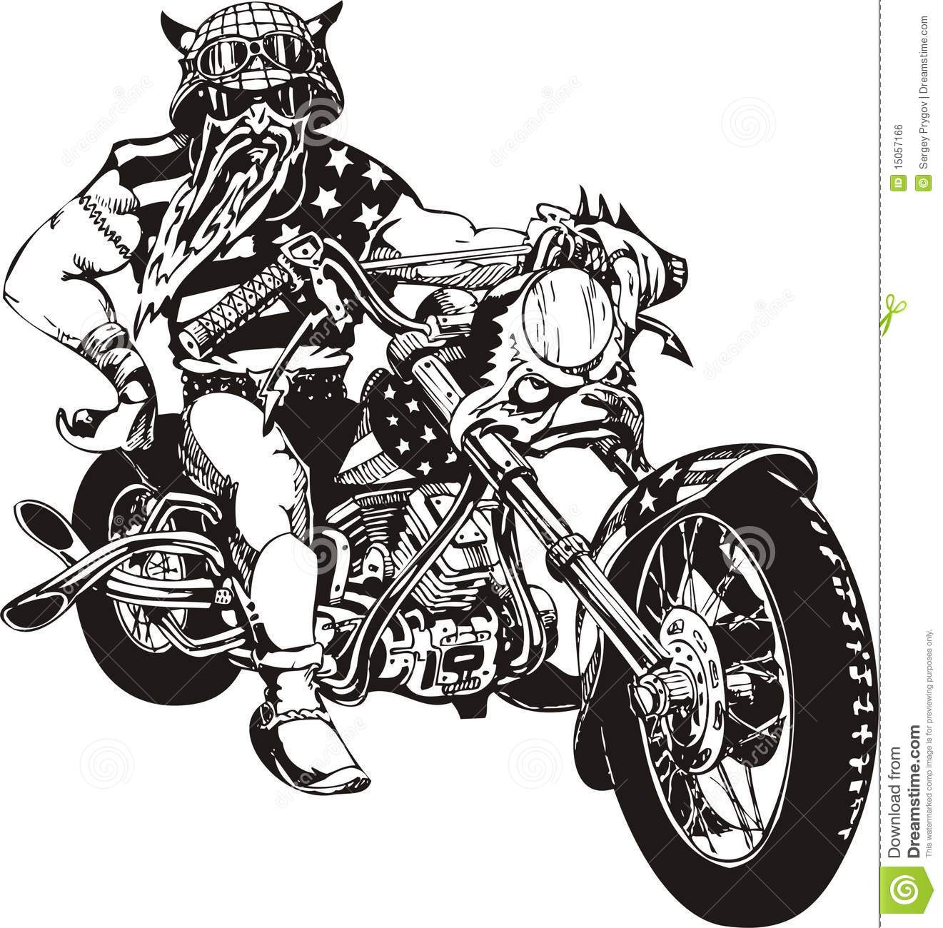 crazy biker  royalty free stock image