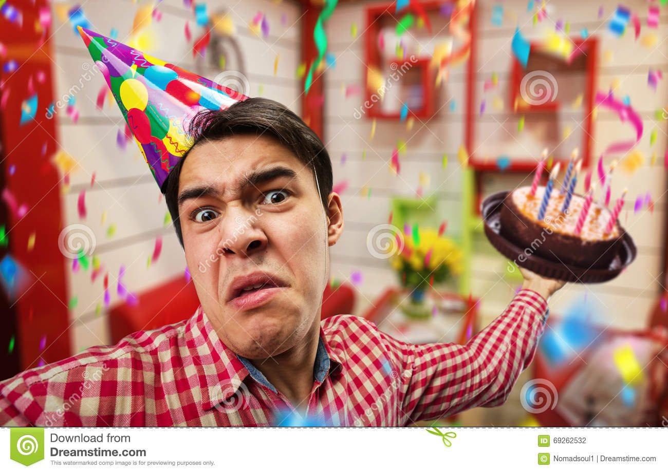 Crazy birthday boy stock photo. Image of caucasian ...