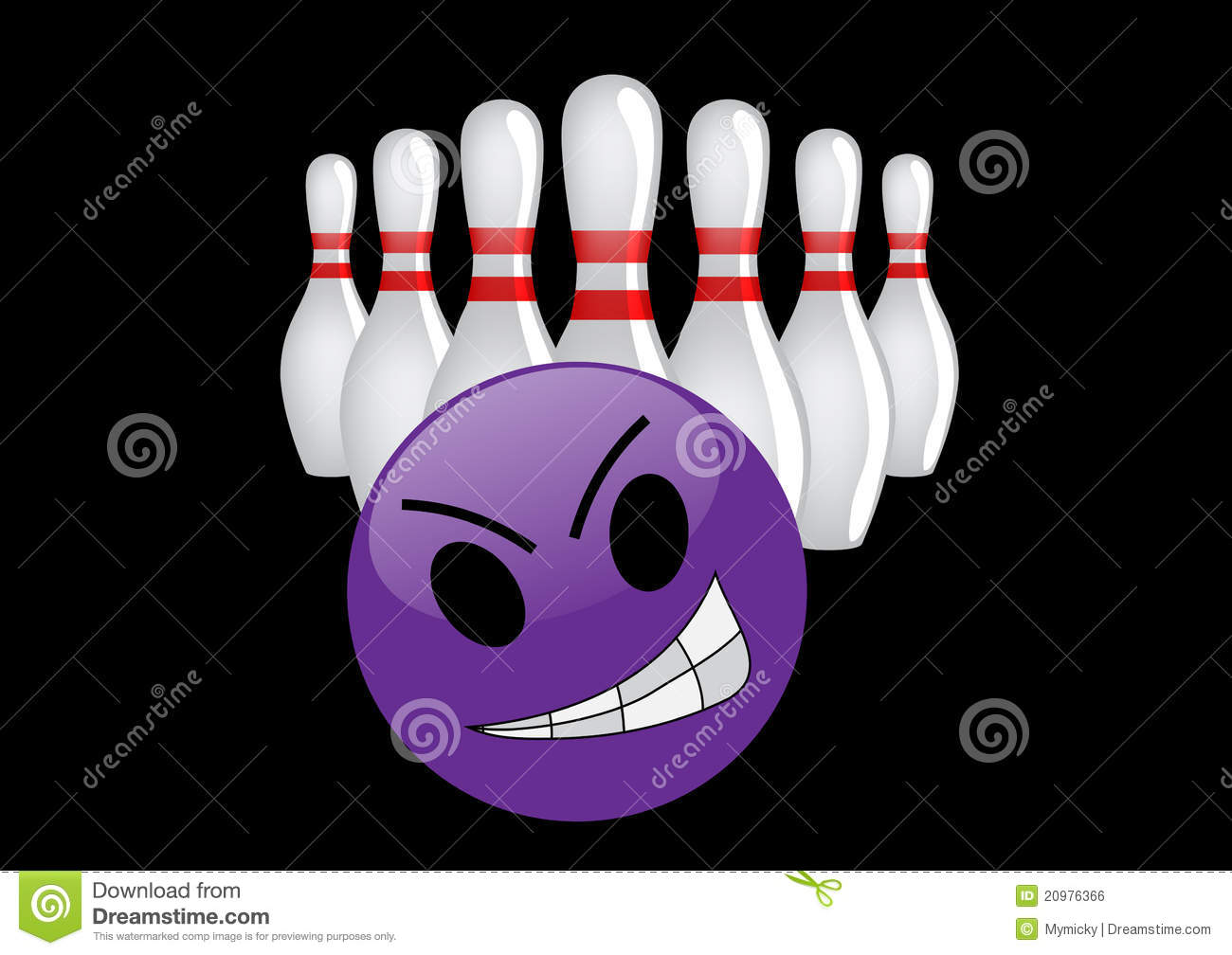 Crazy Bowling Ball Stock Illustration Illustration Of