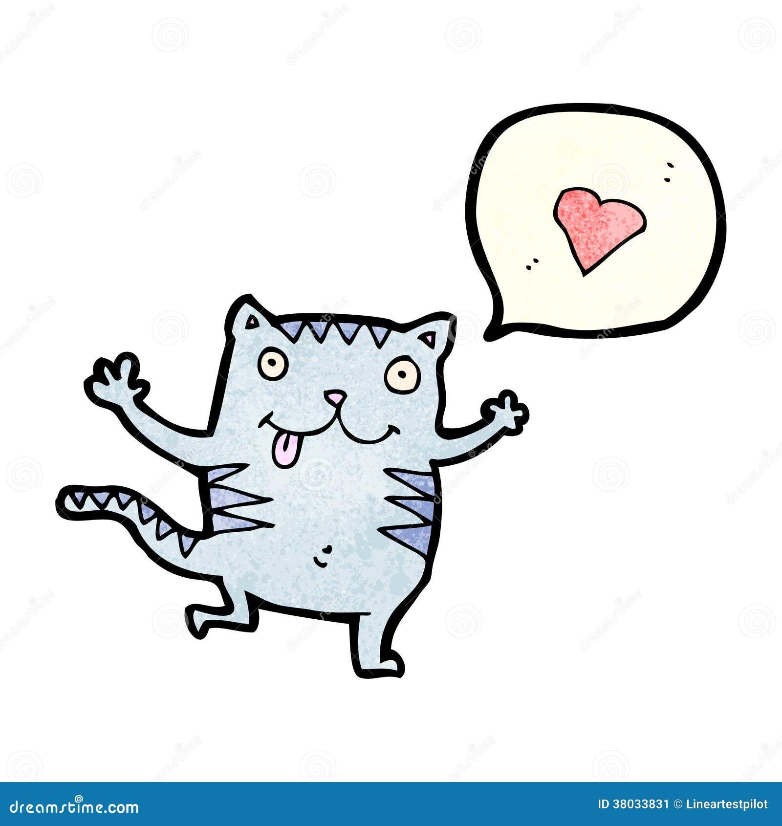 In Love Cartoon: Crazy Cat In Love Cartoon Stock Image