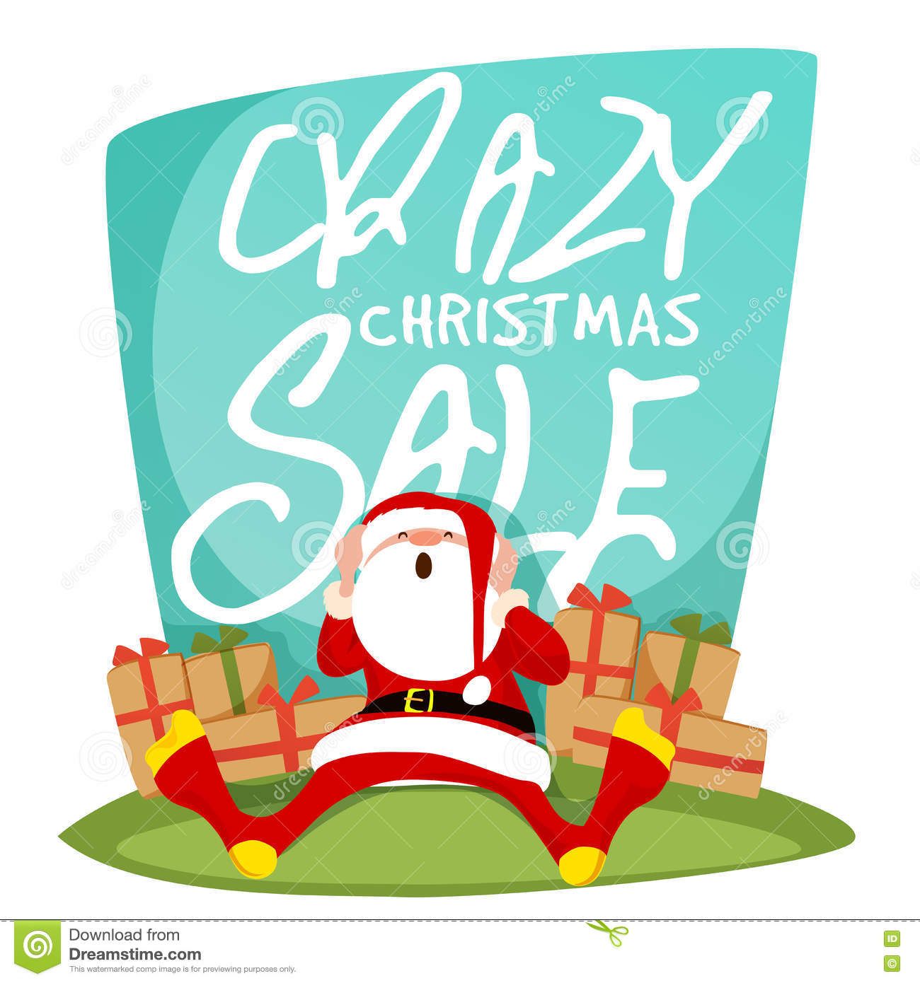 crazy christmas poster banner or flyer stock illustration crazy christmas poster banner or flyer
