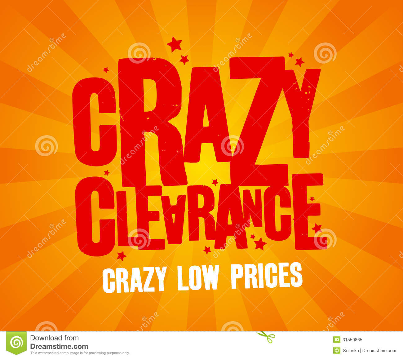 crazy clearance banner royalty free stock photo image