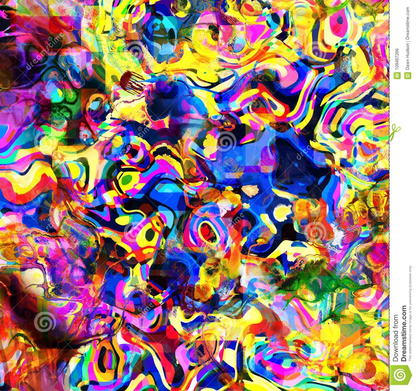 Dizzy Psychedelic Abstract Background Mess