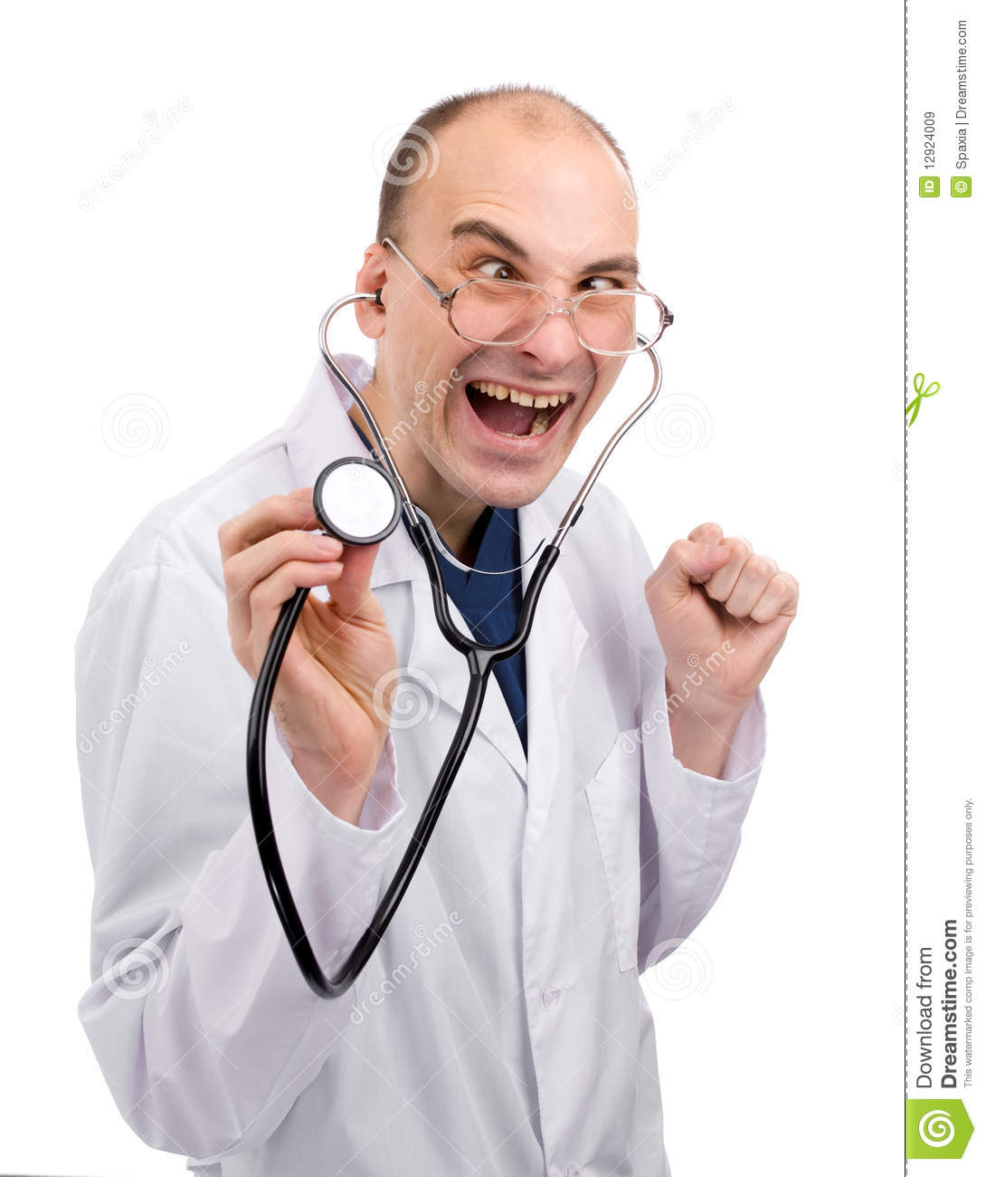 Crazy Doctor Royalty Free Stock Images - Image: 12924009