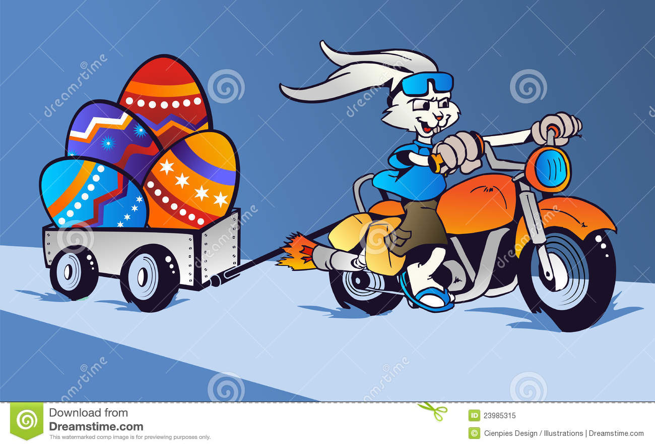 ... Bunny Cartoon In Motorbike Royalty Free Stock Photo - Image: 23985315