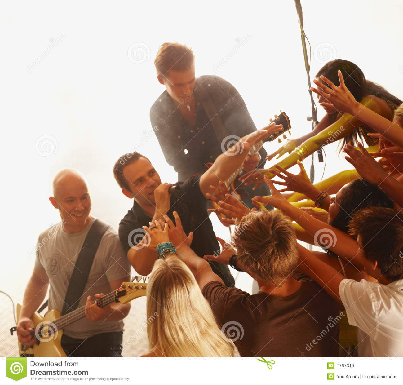 Insane Bands: Royalty Free Stock Images: Crazy Fans Cheering On A Rock