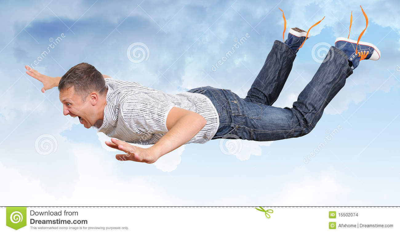 the crazy flying man in clouds stock images image 15502074 Stressed Person Clip Art crazy person free clipart