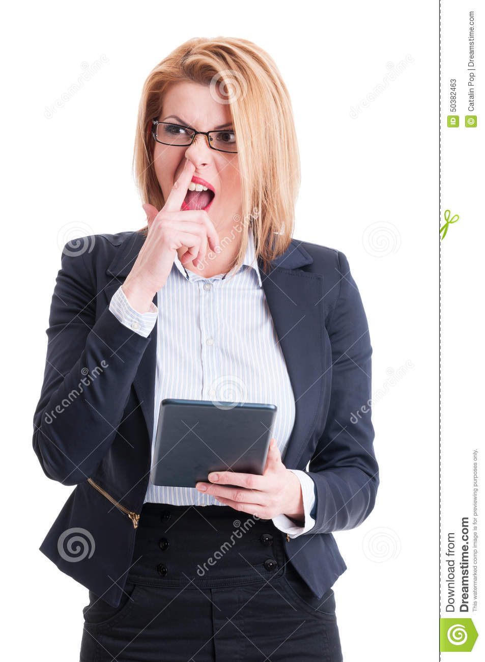 Crazy and funny business woman