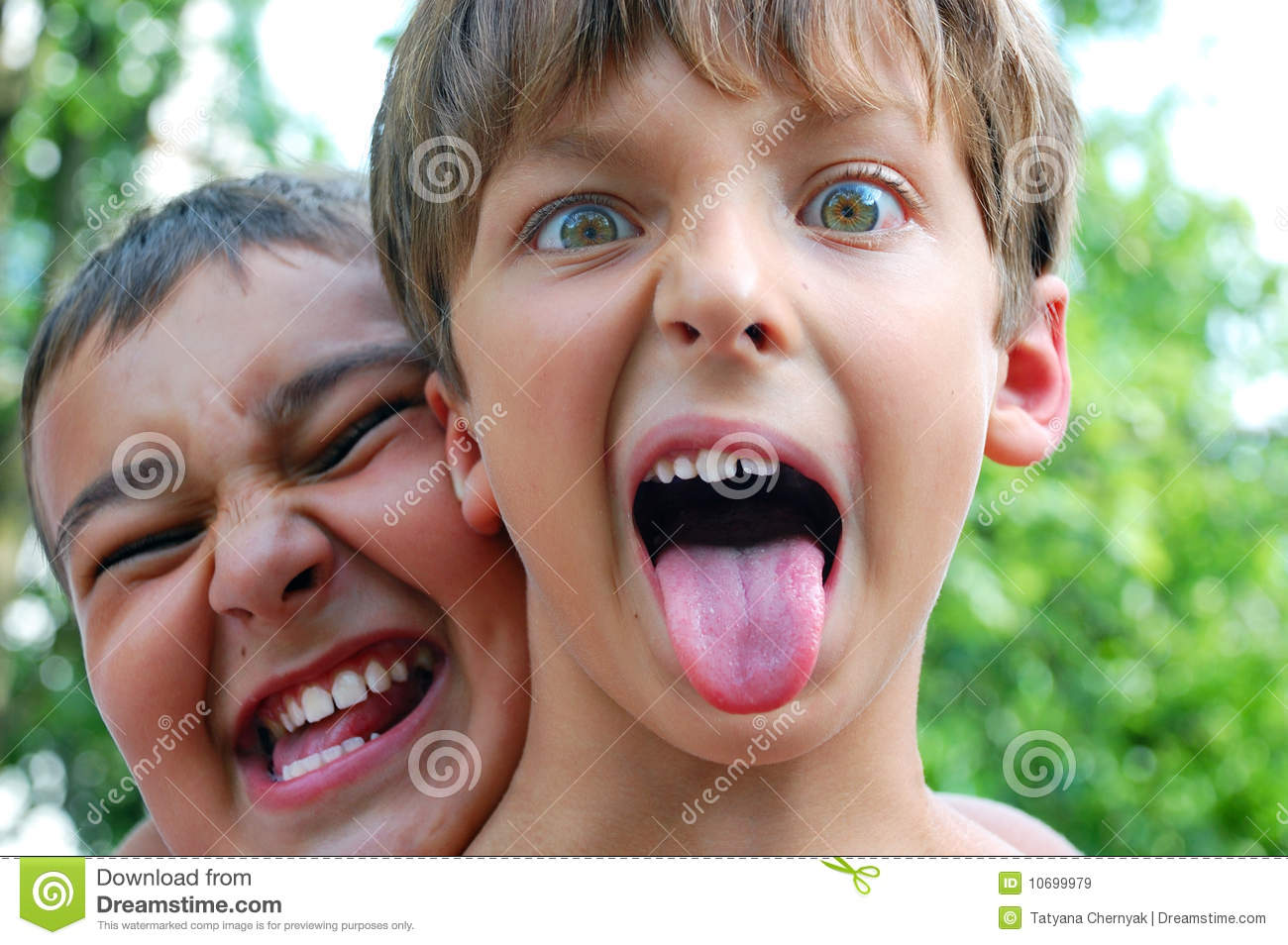 Crazy Funny Children Faces Royalty Free Stock Images - Image: 10699979