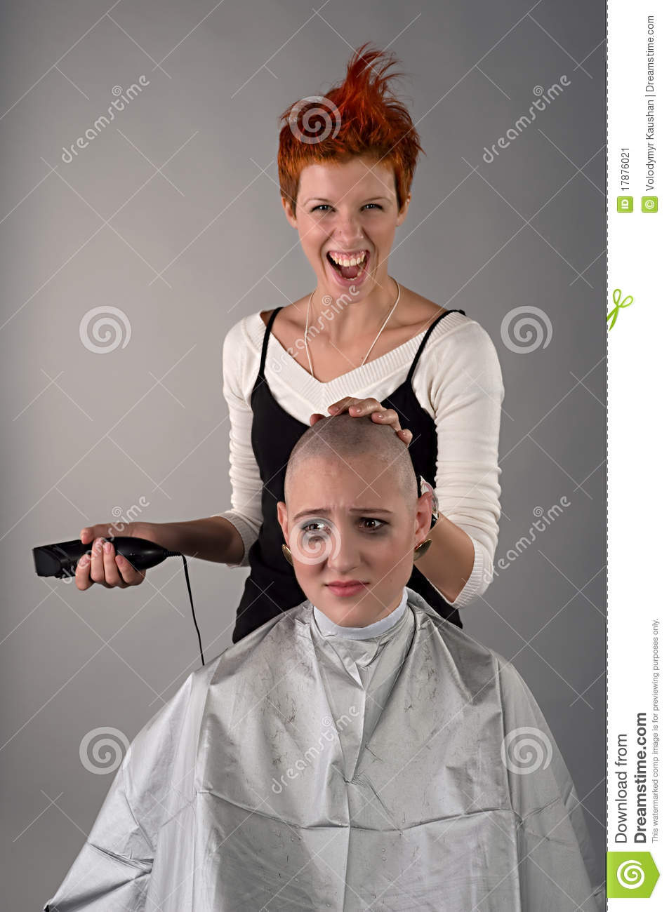 Crazy hairdresser stock image. Image of face, human, crazy ... |Crazy Hairdresser