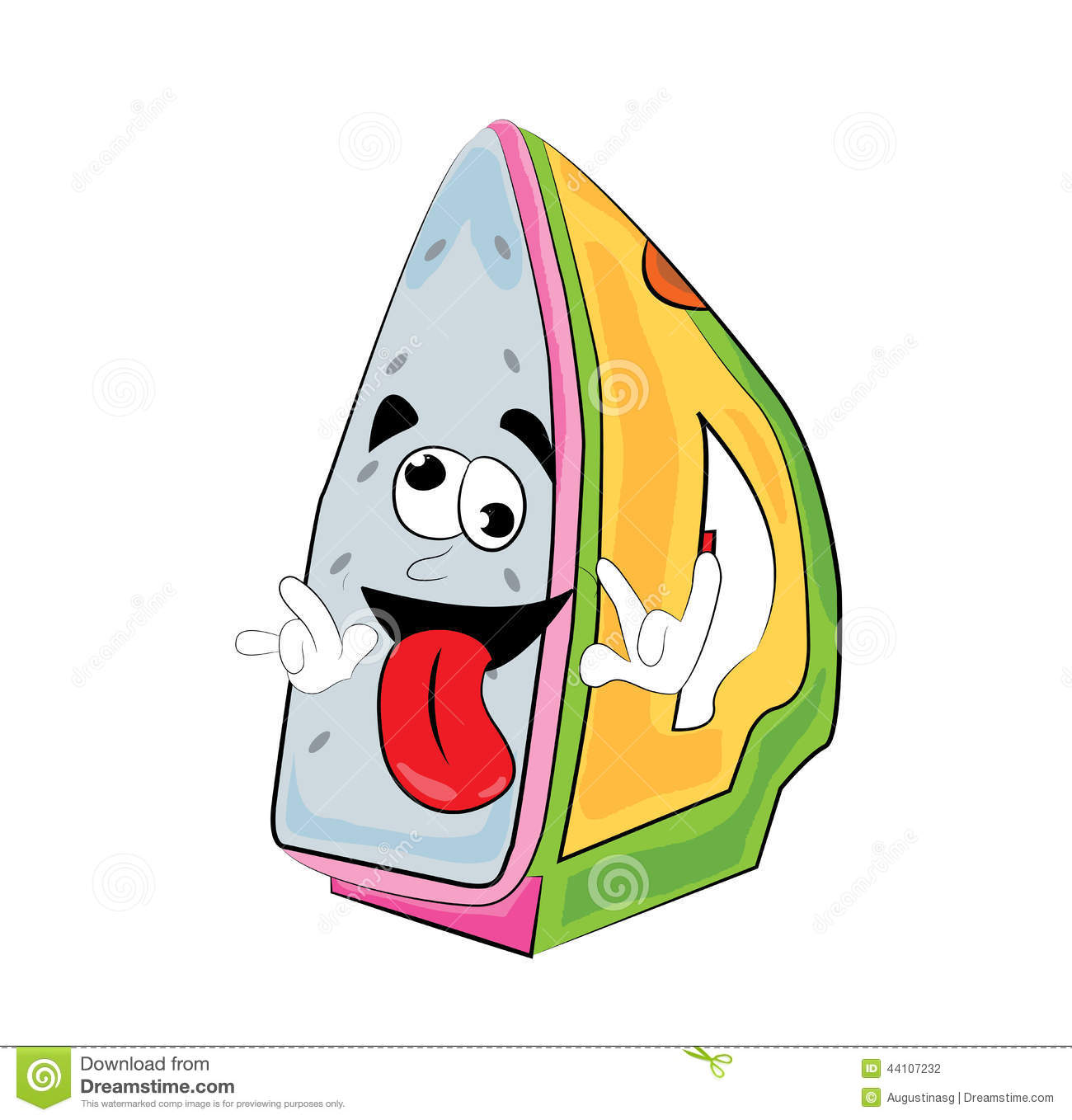 Crazy Iron Cartoon Stock Illustration - Image: 44107232