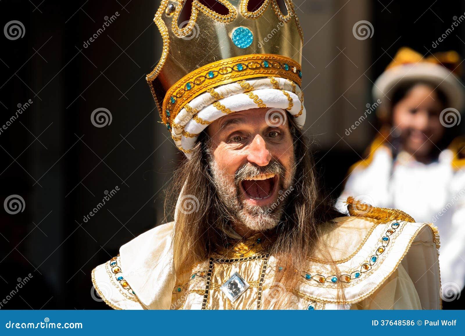 crazy king editorial photo