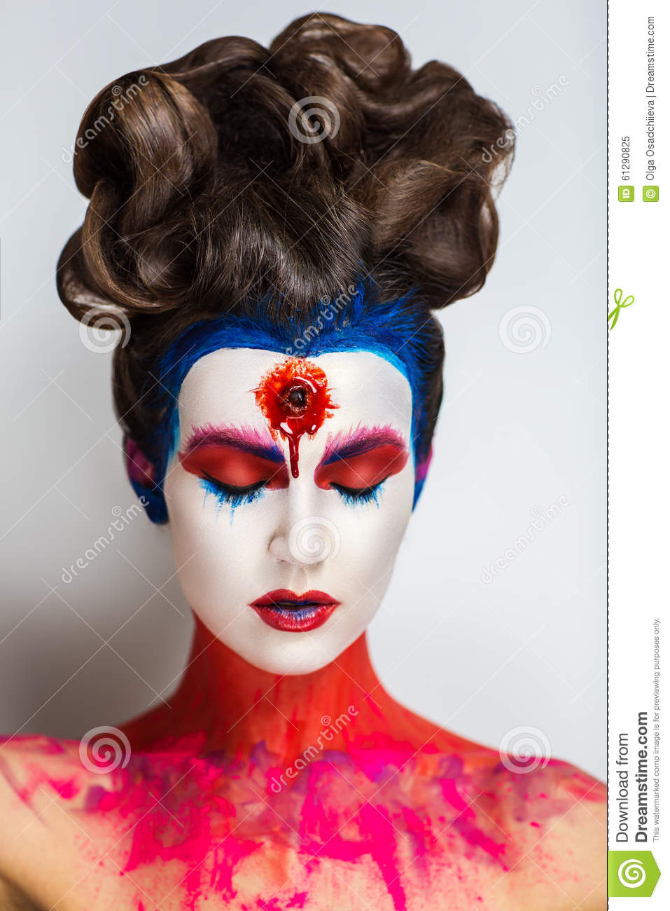 Crazy Make Up Art Stock Photo - Image: 61290825