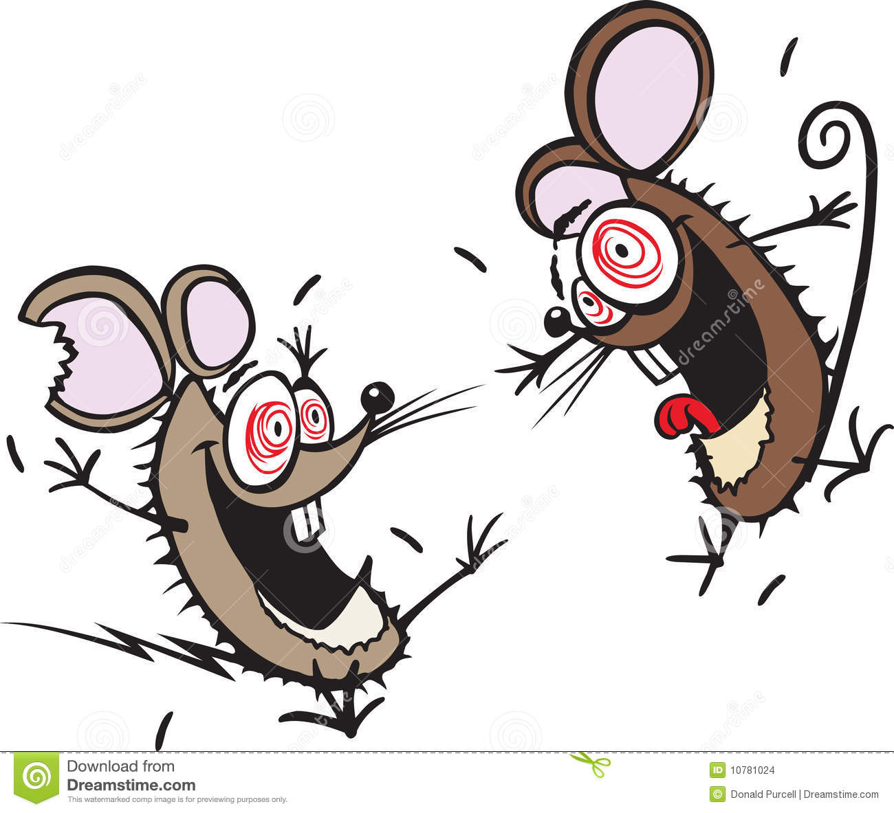 Crazy mice stock vector. Illustration of crazy, cartoon ...
