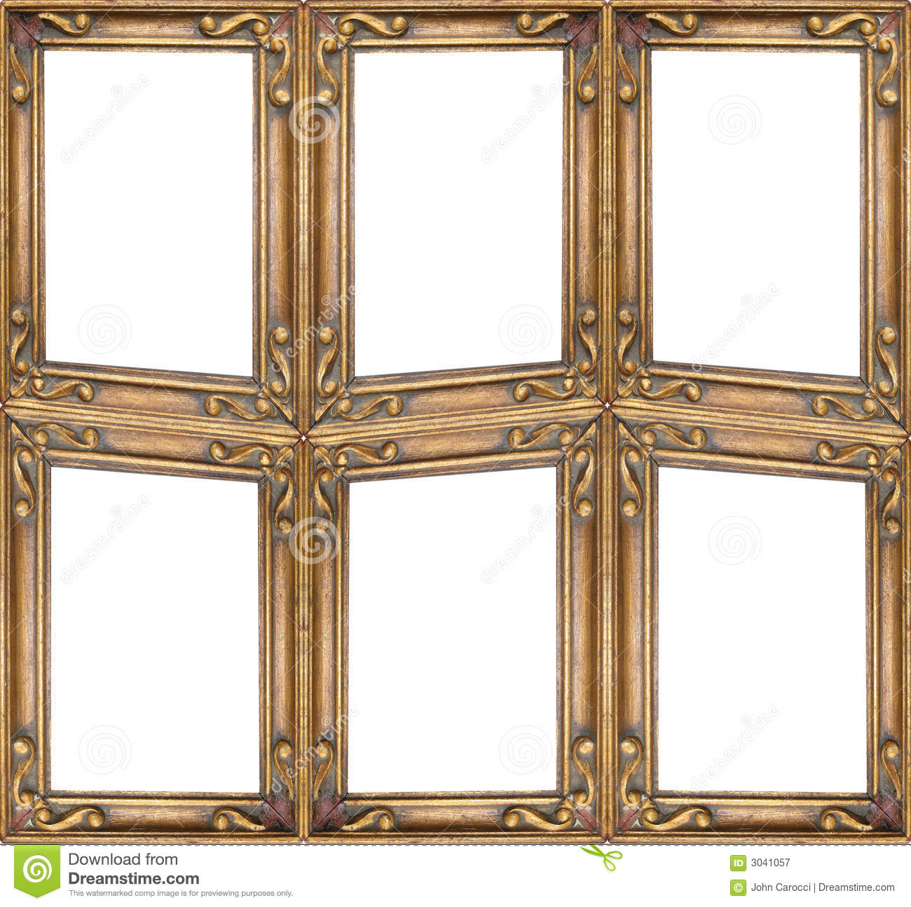 Crazy Picture Frame Stock Image Image Of Gilt Borders