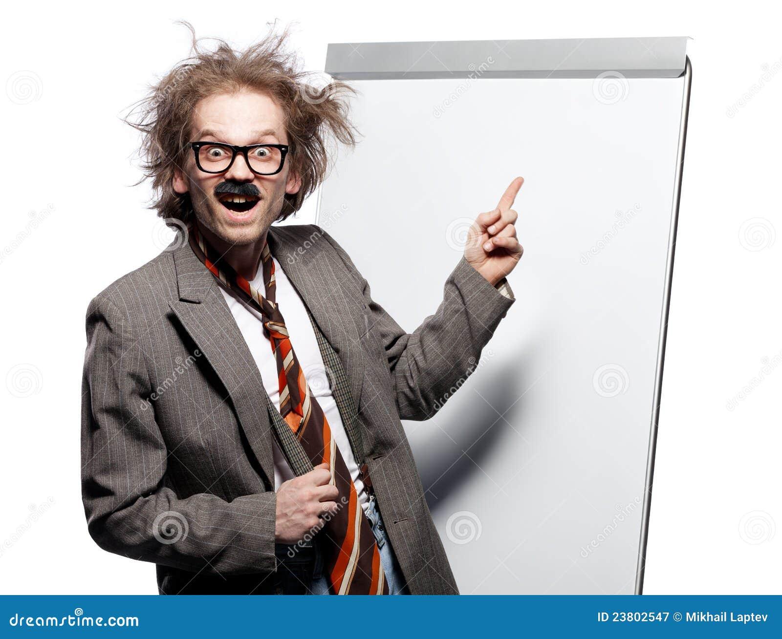 Crazy Professor Stock Image Image Of Mustache Madman