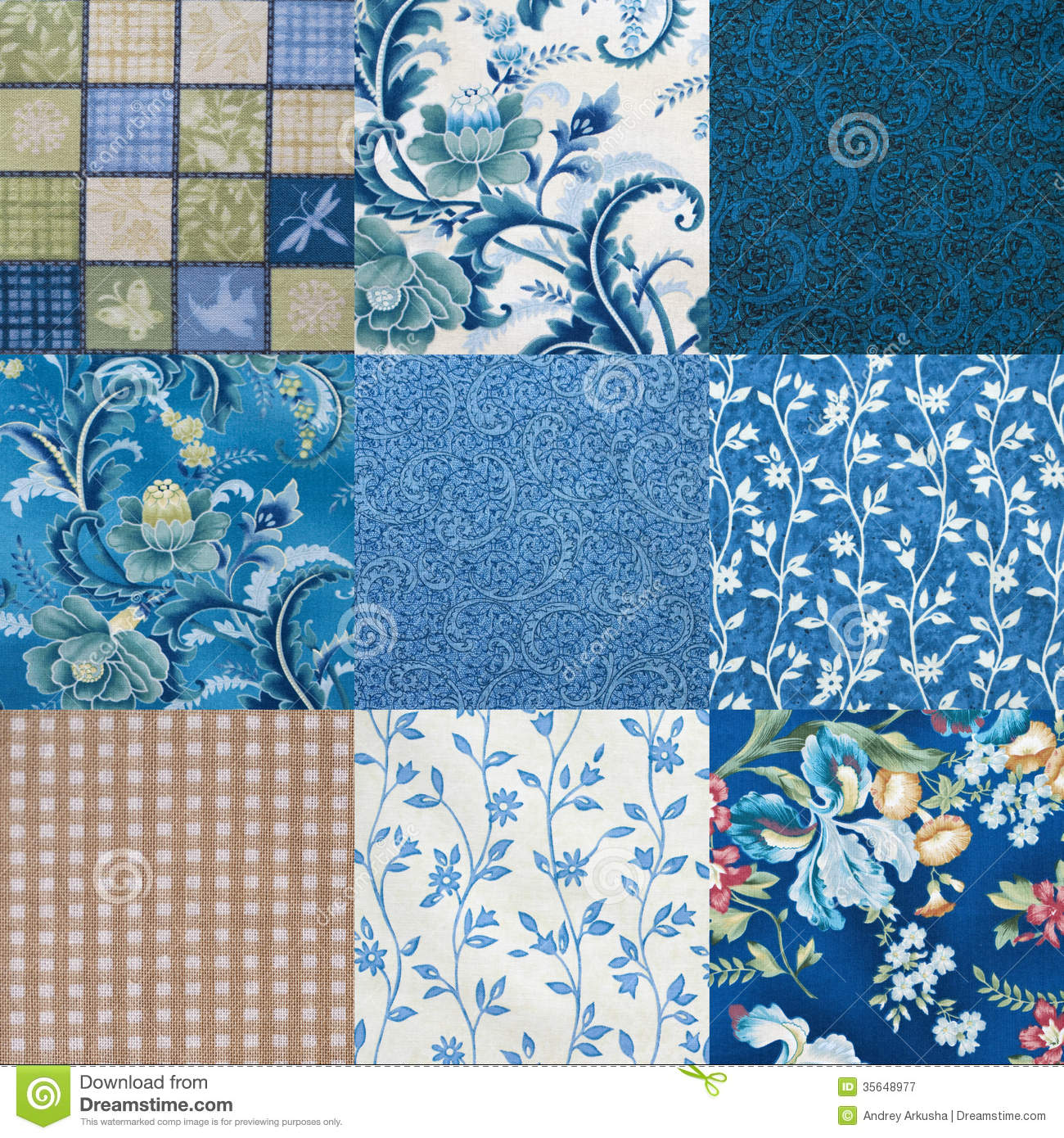 Crazy Quilt Pattern Fabric : Crazy Quilt Royalty Free Stock Photography - Image: 35648977
