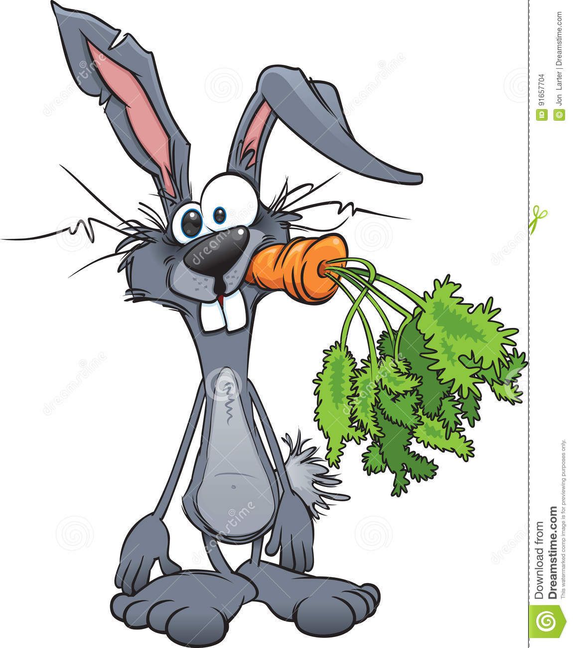 Crazy Rabbit stock vector. Image of rabbits, carrot ...