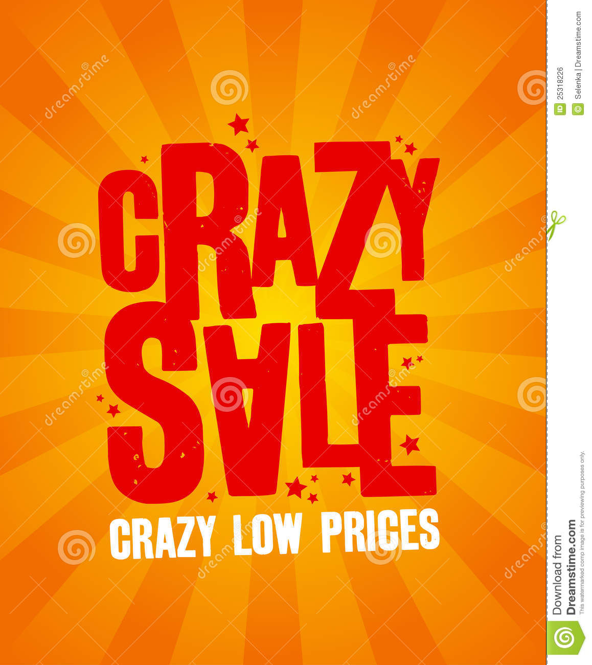 crazy sale banner  royalty free stock image