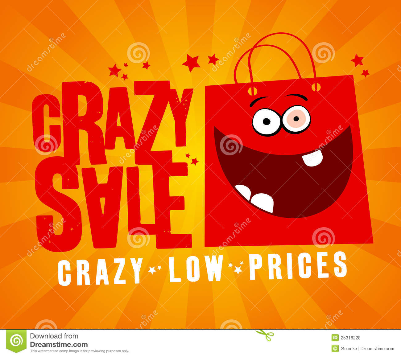 Crazy Sale Banner. Royalty Free Stock Photos - Image: 25318228