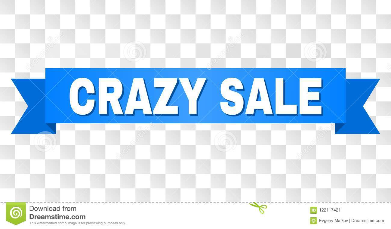 Blue Stripe with CRAZY SALE Caption