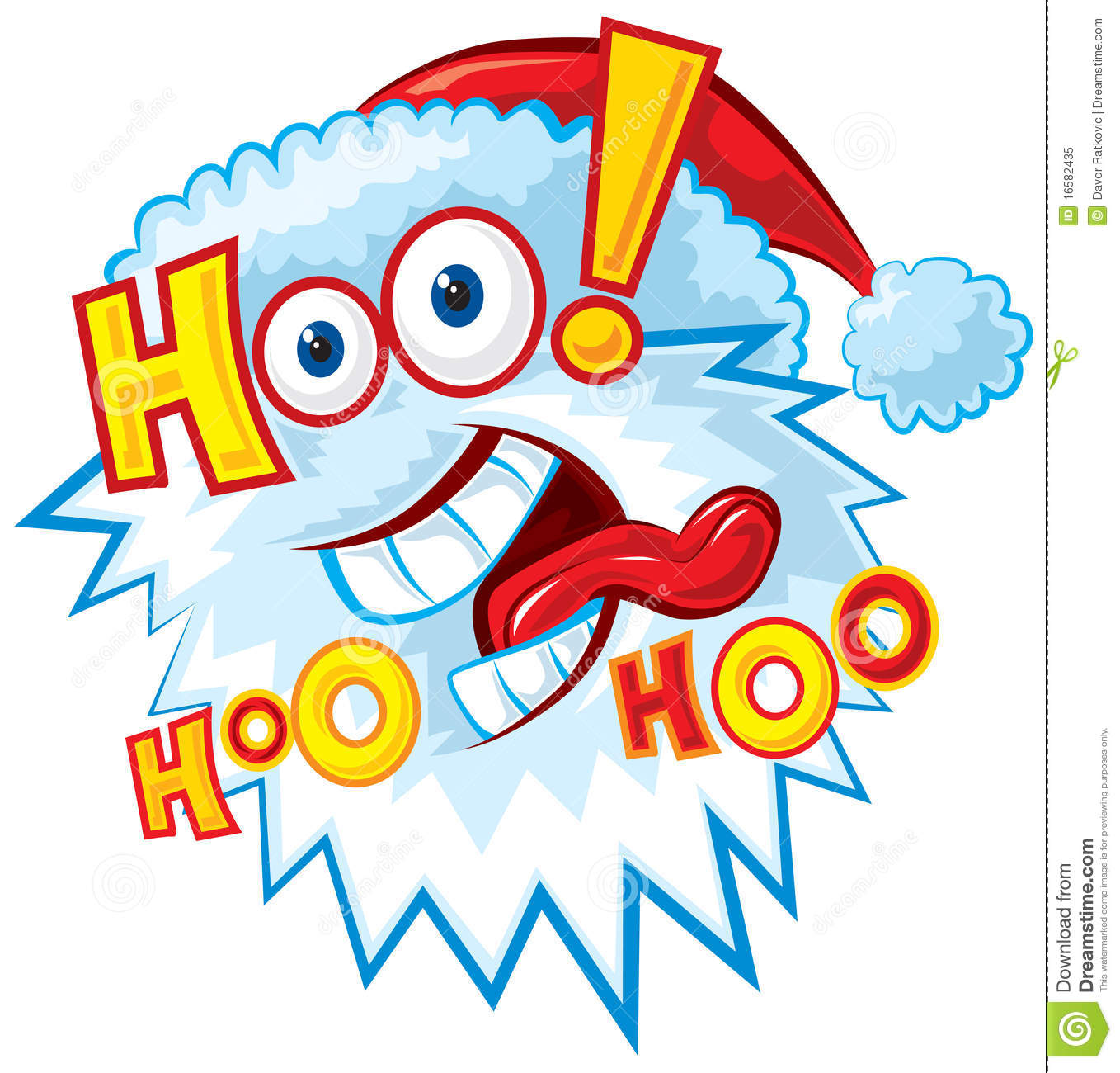 Crazy Santa Hoo Hoo Hoo Stock Vector Image Of Cartoon